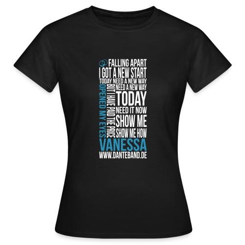 t-shirt vanessa outline - Frauen T-Shirt