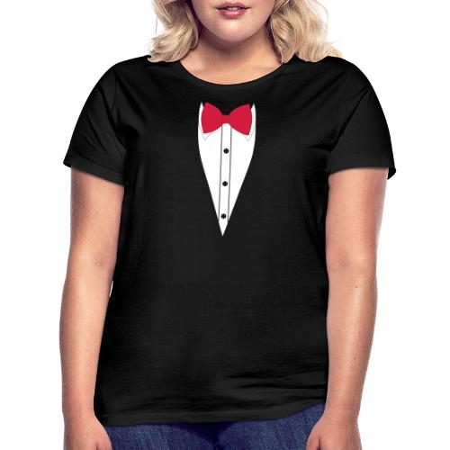 Anzug mit Fliege - Frauen T-Shirt