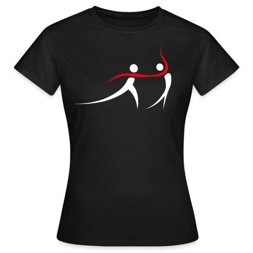 Logo tanzpaar white - Frauen T-Shirt