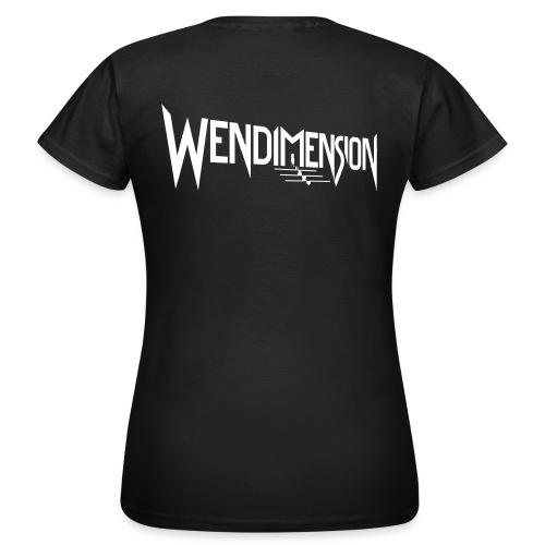 wendimension logo white - Naisten t-paita