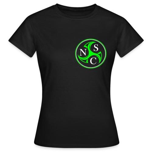 nsc transparent schwarz vorne - Frauen T-Shirt