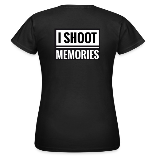 I SHOOT MEMORIES, BLACK EDITION - Dame-T-shirt