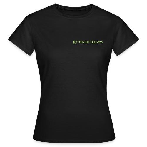 Kitten got Claws Logo - Frauen T-Shirt