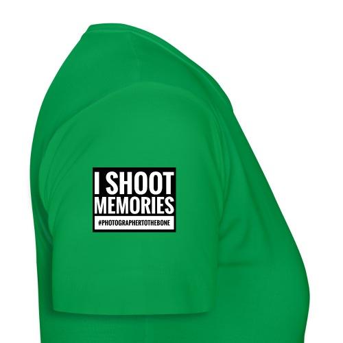 I SHOOT MEMORIES, #photographertothebone - Dame-T-shirt