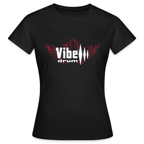 Vibe_Drum_Logo_Flames - Maglietta da donna