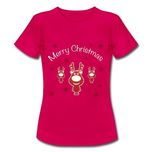 Koszulki Bożonarodzeniowe - Renifery - Koszulka damska