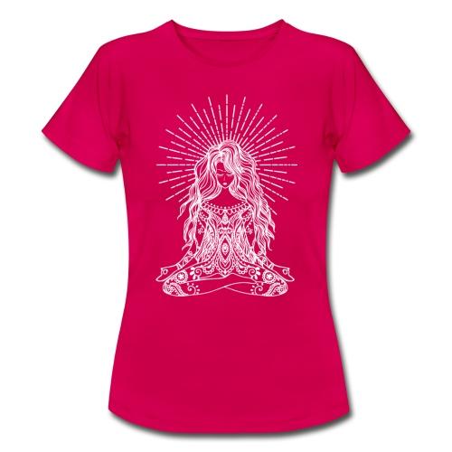 Yogagirl BOHO Design Meditation OHM - Frauen T-Shirt