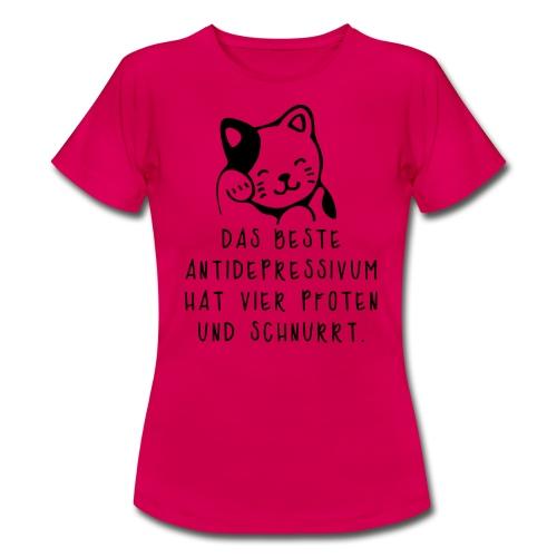 Katzen sind das beste Antidepressivum - Frauen T-Shirt