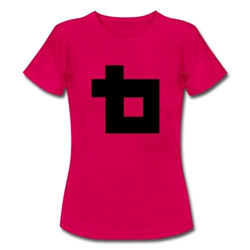 Lunatics logga,svart - T-shirt dam