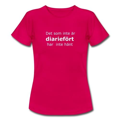 diariefört vit - T-shirt dam