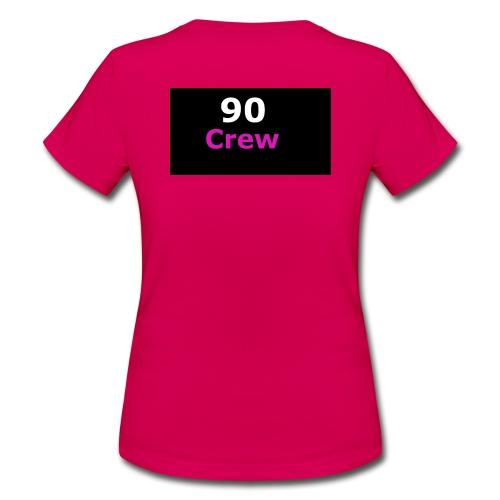 90 Crew Weiss Pink - Frauen T-Shirt