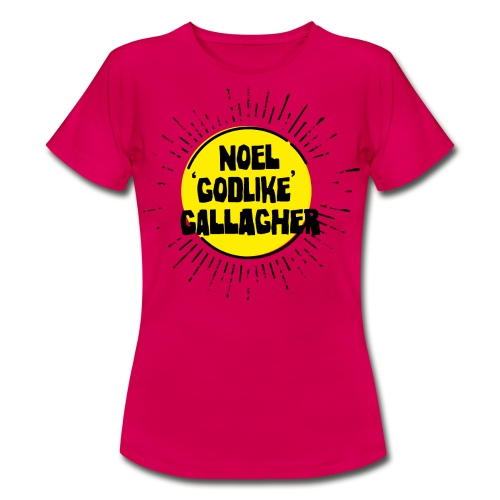 Noel Gallagher 'Godlike' - Black on Yellow - Maglietta da donna