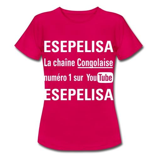 Esepelisa Wit op Transpar - T-shirt Femme