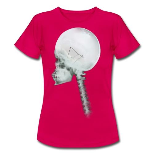 Light bulb skull - Women's T-Shirt