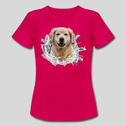 Golden im Glasloch - Frauen T-Shirt