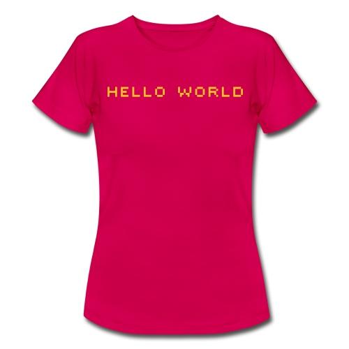 ibisdesigns helloworld vec - Women's T-Shirt