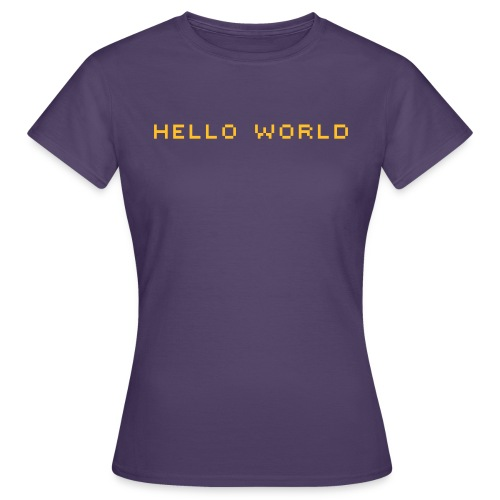 ibisdesigns helloworld vec - Women's T-Shirt