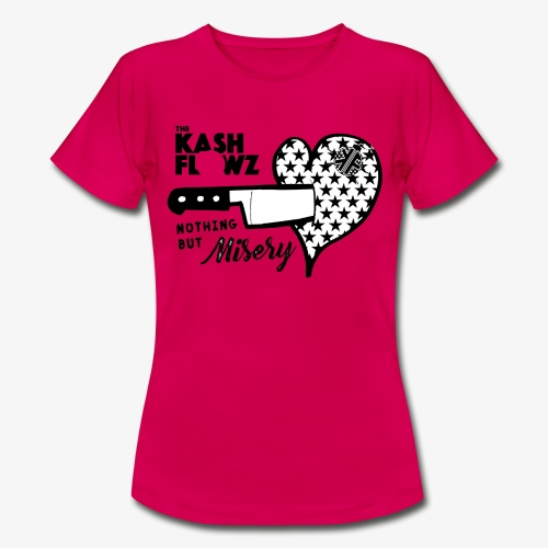 Nothing But Misery Knife Heart Black - T-shirt Femme