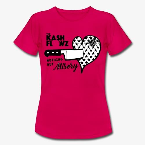 Nothing But Misery Knife Heart Black - T-shirt Femme