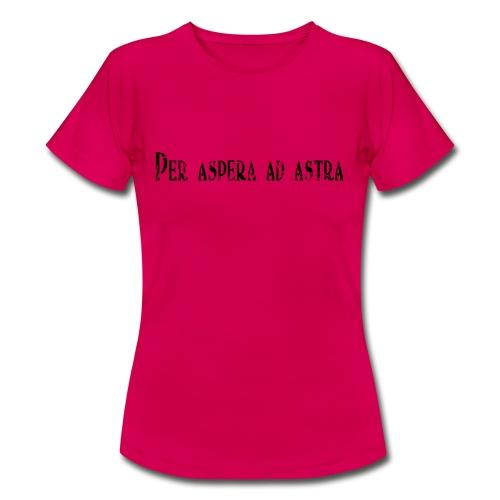 per aspera ad astra noir - T-shirt Femme