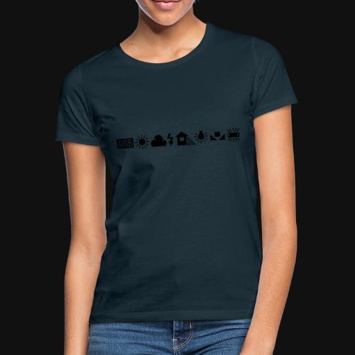 Weissabgleich Symbole Horizontal - Frauen T-Shirt