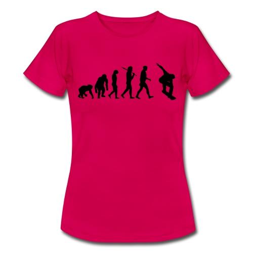 evolution_of_snowboarding - Vrouwen T-shirt