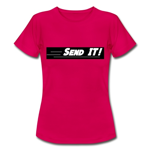 send it logo black and white - Women's T-Shirt