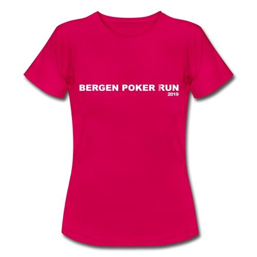 Bergen Poker Run 2019 - T-skjorte for kvinner
