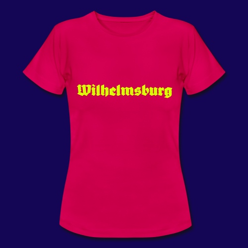 Wilhelmsburg Fraktur-Typo: Die Hamburger Elbinsel! - Frauen T-Shirt
