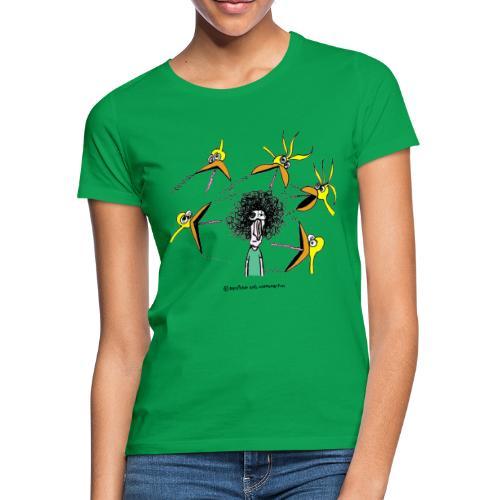 Pájaros vs Humano - Camiseta mujer