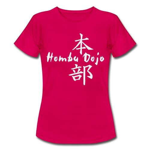 HombuDojo logo wt trans hr - Women's T-Shirt