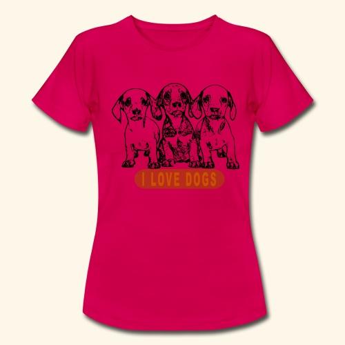 j'aime les chiens - T-shirt Femme