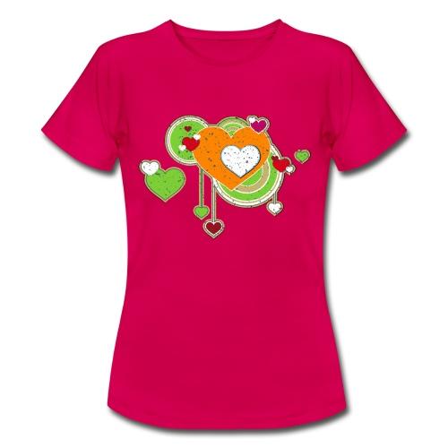 Liebe love Herzen hearts retro grunge Valentinstag - Women's T-Shirt