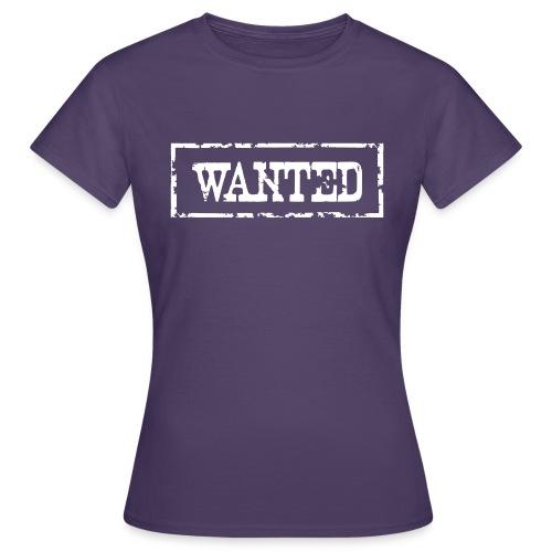 Wanted Frame Rand Rahmen Polizei Police - Frauen T-Shirt