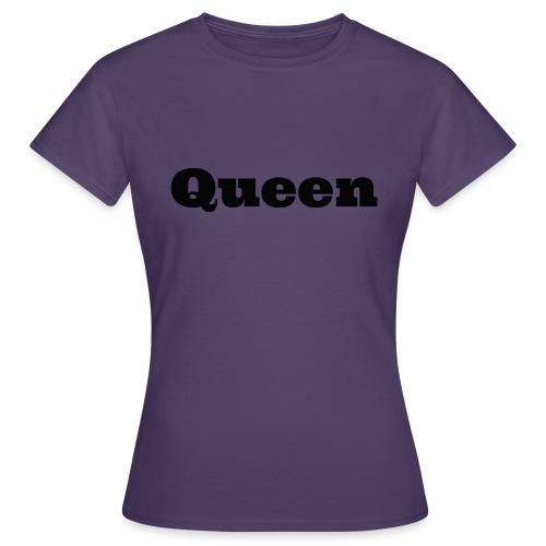 Snapback queen grijs/zwart - Vrouwen T-shirt