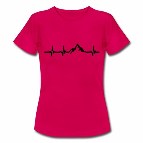 Herzschlag - Berg - Frauen T-Shirt