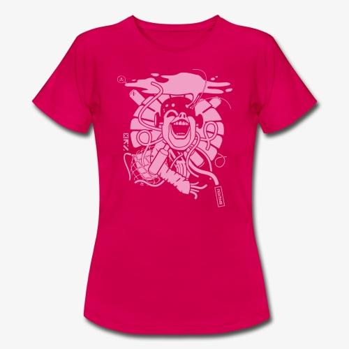 Crazy robot 2 pink 01 01 - Frauen T-Shirt