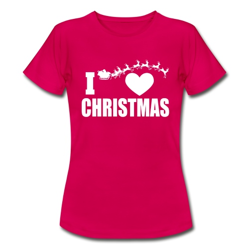 I Love Christmas Heart Natale - Maglietta da donna