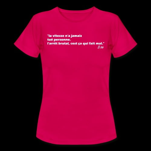vitesse (blanc) - T-shirt Femme