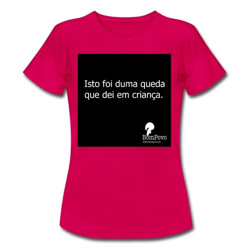 queda em criança - Women's T-Shirt