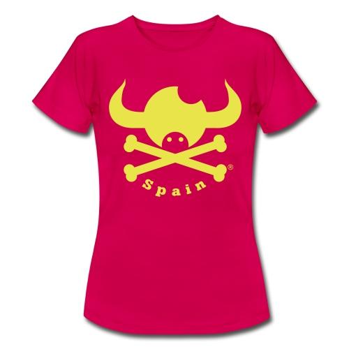 DISEÑO QUIJOTES BASICO AMARILLO SPAIN - Camiseta mujer