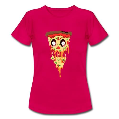 Schockierte Horror Pizza - Frauen T-Shirt