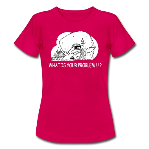 moby dick gets upset - Camiseta mujer