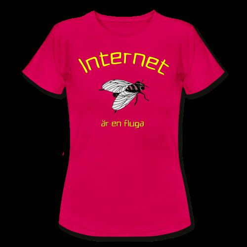 Internet är en fluga - T-shirt dam