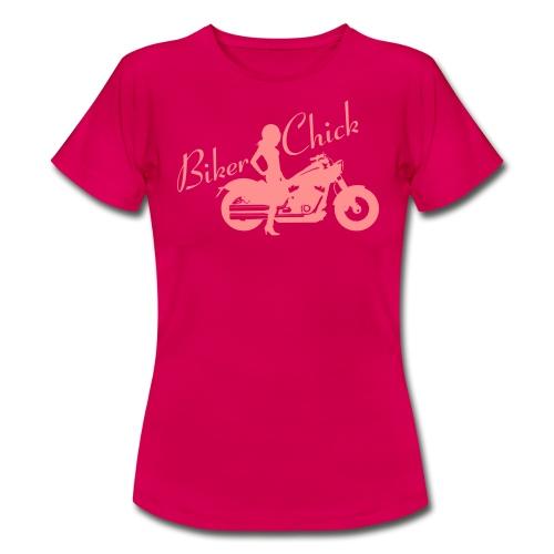 Biker Chick - Custom bike - Naisten t-paita