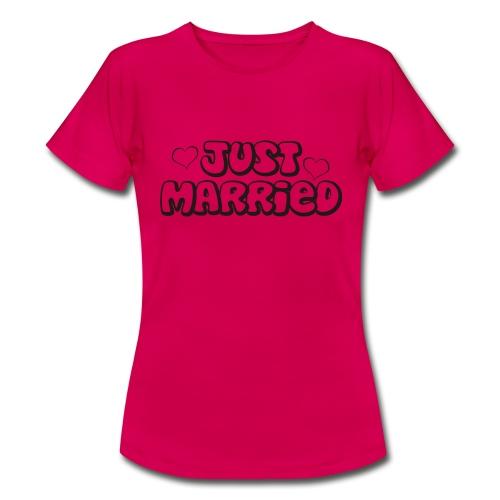 JUST MARRIED Partner Namen schwarz - Frauen T-Shirt