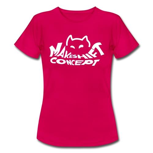 Makeshift Concept Cat Logo Weiß - Frauen T-Shirt