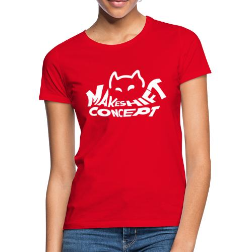Makeshift Concept Cat Logo Weiß - Frauen T-Shirt
