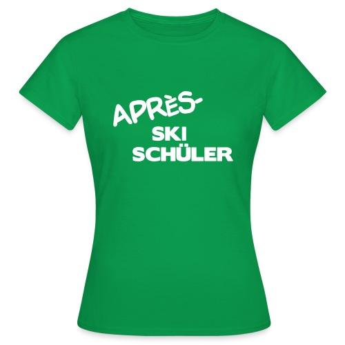 Après Ski Schüler, Winter Shirt - Frauen T-Shirt