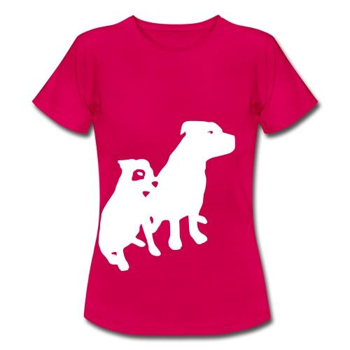 Doggy / zwei brave Hunde zum verschenken - Frauen T-Shirt
